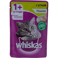 Корм для кошек WHISKAS Паштет с уткой