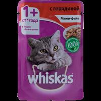 Корм для кошек WHISKAS Мини-филе с говядиной