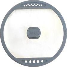 Крышка TALLER с силиконовым ободом,отверстия д/слива жидкости26 см