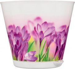 Горшок д/цветов КРИТ d 160 мм с сист. прикорнев. полива Цветы, пласт. 1,8 л