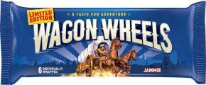 Бисквит WAGON WHEELS в шоколаде с прослойкой из суфле и джема 216г