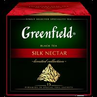 Чайный напиток GREENFIELD Силк Нектэ нап.пирам.аром. к/уп