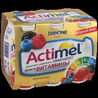 Продукт кисломолочный DANONE Актимель обогащ L Casei imunitass витам/кал/цинк Ягодный мик