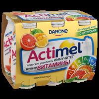 Продукт кисломолочный АКТИМЕЛЬ Фруктовый микс с цитрусами 2,5%