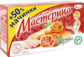 Блинчики ТАЛОСТО Мастерица с мясом 420г
