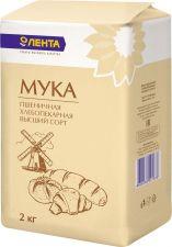 Мука ЛЕНТА пшеничная в/с 2кг