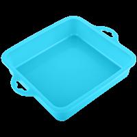 Форма для выпечки HOMECLUB Delice квадратная, 19x20см, силикон, в ассорт B-12301L