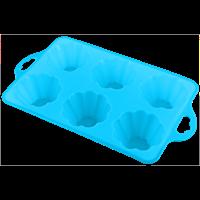 Форма для выпечки HOMECLUB Delice кексов 28,5x17x4 см, силикон, в ассорт B-12008L