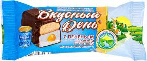 Продукт молокосодержащий ВКУСНЫЙ ДЕНЬ сырок с печ и сгущенкой с змж 45г
