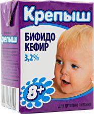 Бифидокефир КРЕПЫШ д/детского питания 3,2% без змж 200г