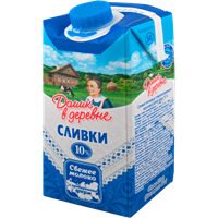 Сливки ДОМИК В ДЕРЕВНЕ стерил. питьевые 10% Combi Slim
