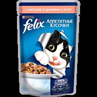 Корм для взрослых кошек FELIX Sensations с уткой в желе со шпинатом консер.