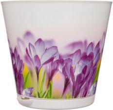 Горшок д/цветов КРИТ d 200 мм с сист. прикорнев. полива Цветы, пласт. 3,6 л