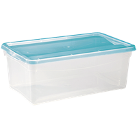 Ящик для хранения БЫТПЛАСТ кристалл, 5л, 330x190x120 с крышкой 4312492 / 4312496