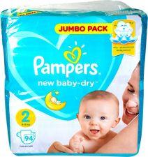 Подгузники PAMPERS New baby-dry Mini 4-8кг 94шт