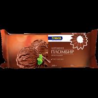 Мороженое ЛЕНТА шоколадный пломбир 15% брикет