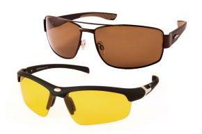 Очки поляризационные CAFA FRANCE с желтой линзой, с металлической оправой