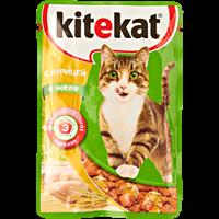 Корм для кошек KITEKAT с курицей в желе