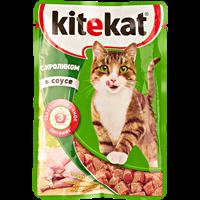 Корм для кошек KITEKAT Кролик в соусе