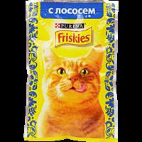Корм для взрослых кошек FRISKIES с лососем в подливе консервированный полнорационный