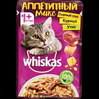 Корм для кошек WHISKAS микс сл.соус кур/утк