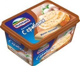 Сыр HOCHLAND плавленый с грибами 55% ванна без змж 400г