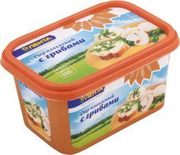 Сыр ЛЕНТА плавленый с грибами 50% ванночка без змж 400г