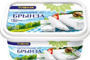 Сыр ЛЕНТА рассольный Брынза 45% без змж 250г