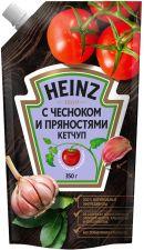 Кетчуп HEINZ С чесноком и пряностями дой-пак 350г