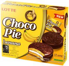 Пирожное LOTTE Choco Pie Банан 336г