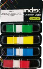 Блок-закладка INDEX С липким слоем,Стрелки,12х44мм,4 цв.по 24л