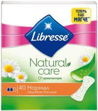 Прокладки LIBRESSE Natural Care Normal ежедн. 40шт