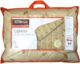 Одеяло 1,5сп HOMECLUB Овечья шерсть 140x205см