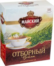 Чай черный МАЙСКИЙ Байховый Отборный к/уп 100пак