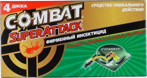 Инсектицид COMBAT Super Attack д/бор.с мур. 4шт