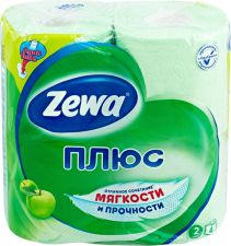 Бумага туалетная ZEWA с ароматом яблока 2-сл 4шт