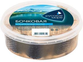 Сельдь РУССКОЕ МОРЕ жирная кусочки с/п 400г