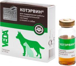 Добавка кормовая д/кошек и собак VEDA Фитодиета Котэрвин 3*10мл