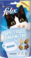 Корм д/взр. кошек FELIX Хрустящее лакомство со вкусом молока 60г