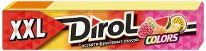 Жев. резинка DIROL COLORS XXL ассорти фруктовых вкусов б/сахара 19г