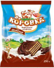 Конфеты РОТ-ФРОНТ Коровка вафельные вкус шоколад 250г