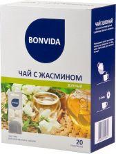 Чай зеленый BONVIDA с жасмином для заваривания в чайнике 20*5г