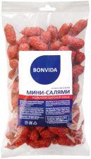 Колбаски BONVIDA Мини-салями со вкусом бекона полусухие защ.ср. вес