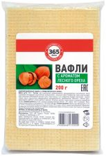 Вафли 365 ДНЕЙ С ароматом лесного ореха 200г