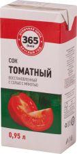 Сок 365 ДНЕЙ Томатный восст. с солью т/пак. 0.95L