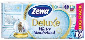 Бумага туалетная ZEWA Deluxe белая 3-сл. 8шт