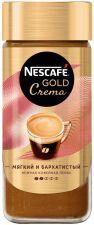 Кофе растворимый NESCAFE GOLD Crema натуральный порошкообразный ст/б 95г