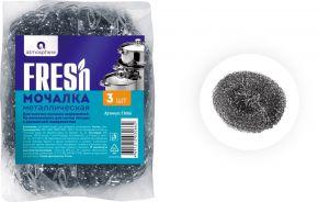 Мочалка д/мытья посуды ATMOSPHERE Fresh, металлическая 3шт