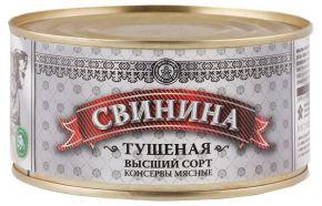 М/к тушенка ЛКЗ 697-84 свиная в/с 325г
