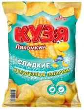 Снеки КУЗЯ ЛАКОМКИН кукурузные палочки с сахарной пудрой 140г